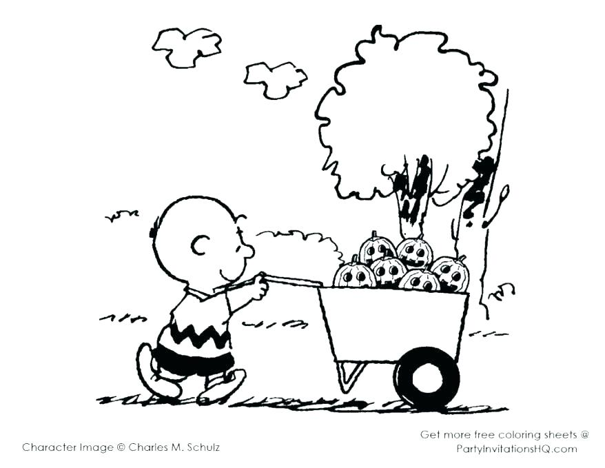 878x679 Charlie Brown Halloween Coloring Pages Snoopy Coloring Pages