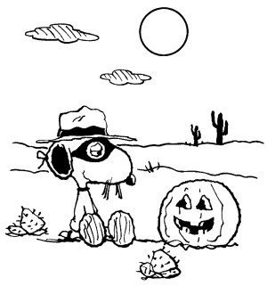 300x321 Peanuts Coloring Pages Halloween Coloring Pages Snoopy
