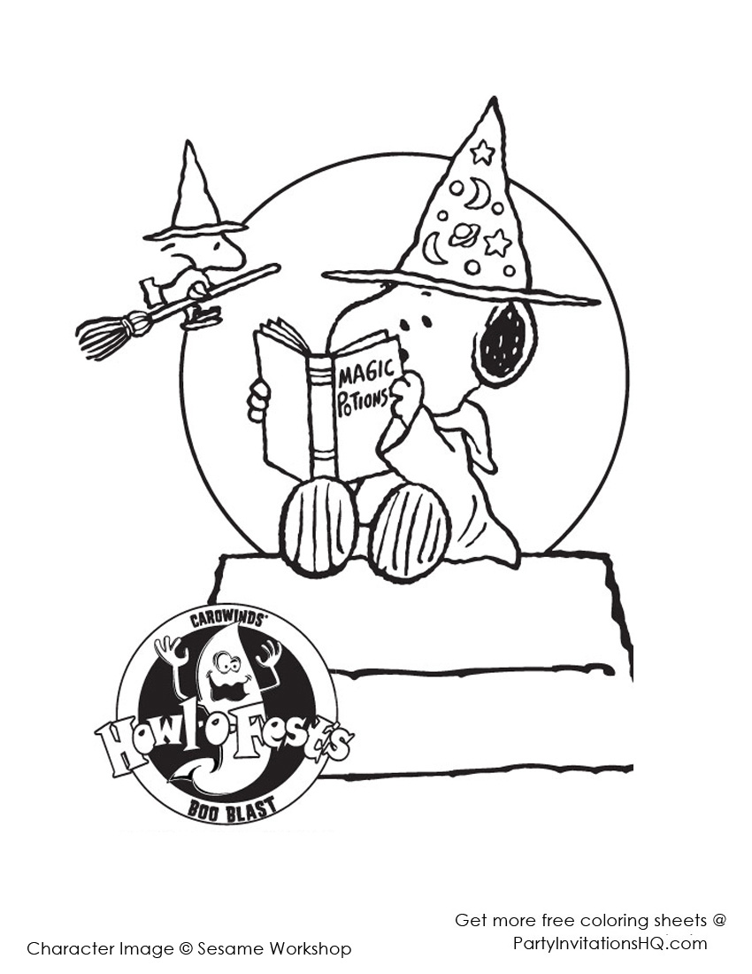 850x1100 Snoopy Halloween Coloring Pages Treasured Sheets For You