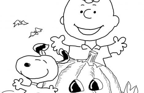 469x304 Charlie Brown Halloween Coloring Pages Just Colorings