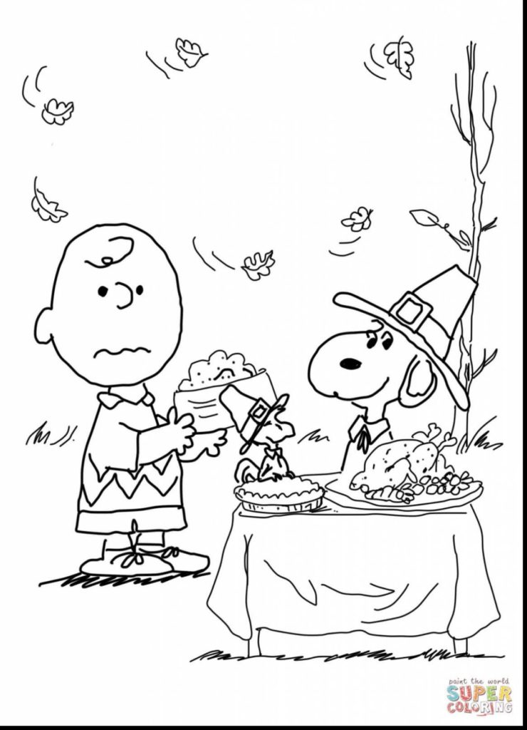 740x1024 Charlie Brown Thanksgiving Coloring Pages