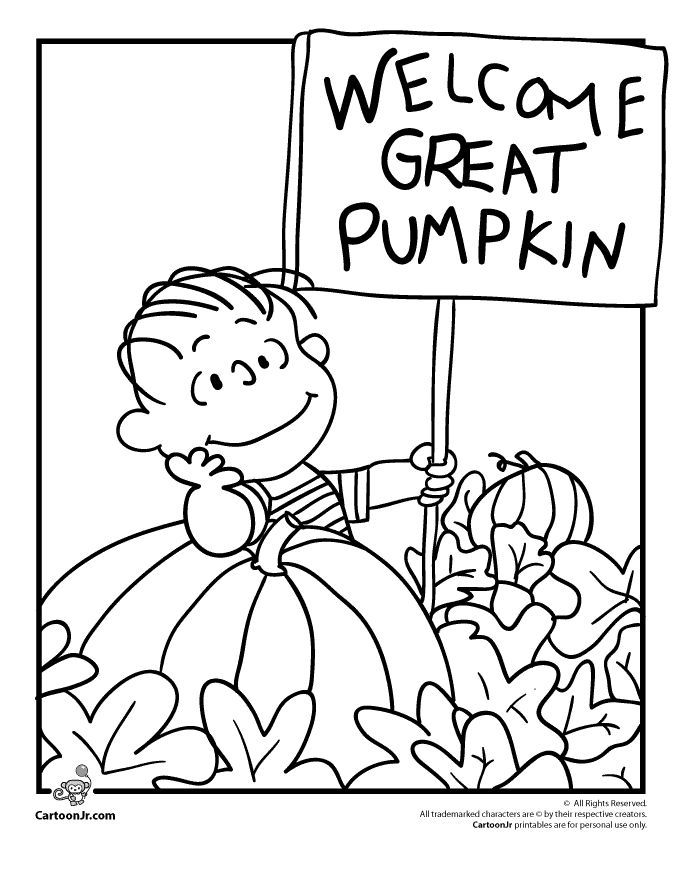 680x880 It's The Great Pumpkin Charlie Brown Coloring Pages Linus Waiting