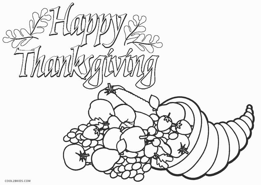 850x604 Printable Thanksgiving Coloring Pages For Kids