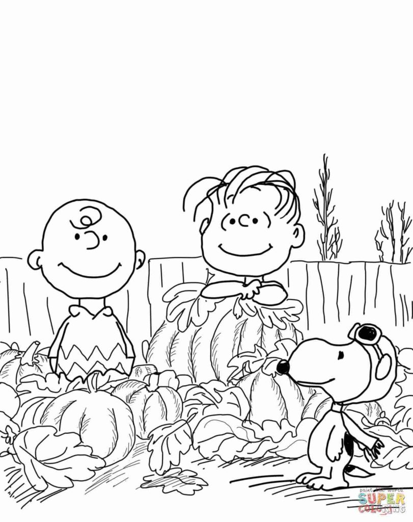 811x1024 Charlie Brown Thanksgiving Coloring Pages