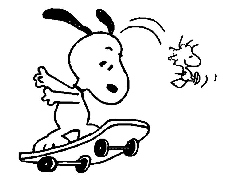 736x579 Best Snoopy Coloring Pages Images On Peanuts Gang