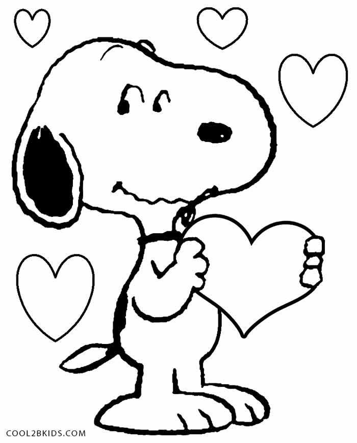 Charlie Brown Valentine Coloring Pages At Getdrawings Free Download