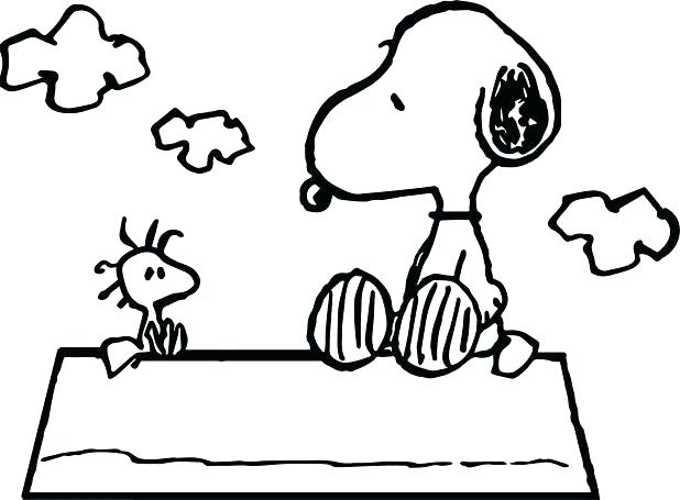 618x455 Snoopy Coloring Page Snoopy Thanksgiving Coloring Pages Best