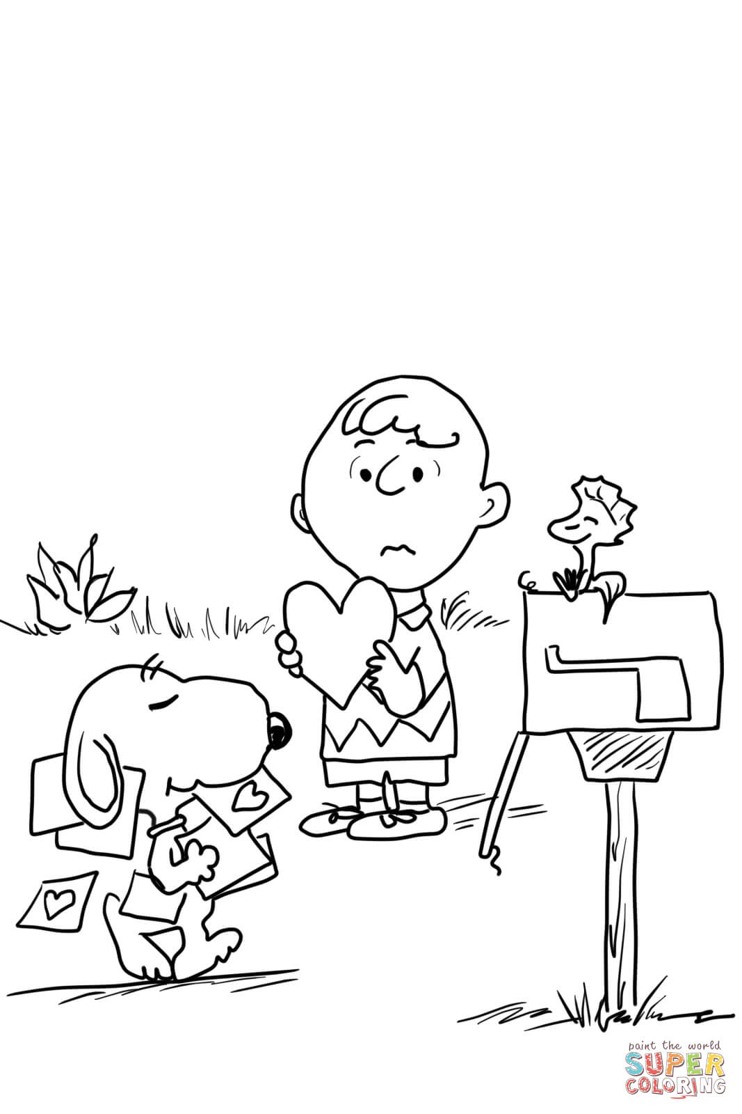 1067x1600 Be My Valentine Charlie Brown Coloring Page