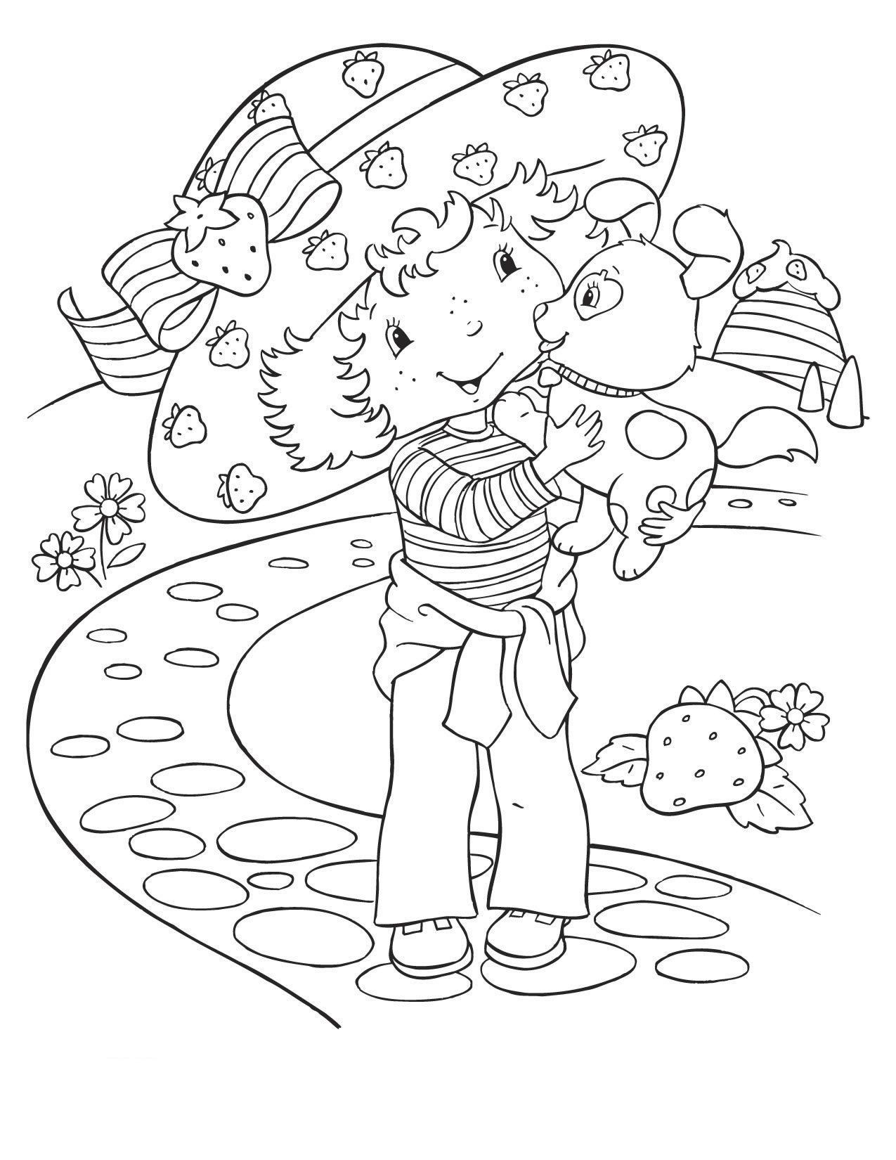 1275x1650 Coloring Pages Strawberry Shortcake And Friends Places To Visit