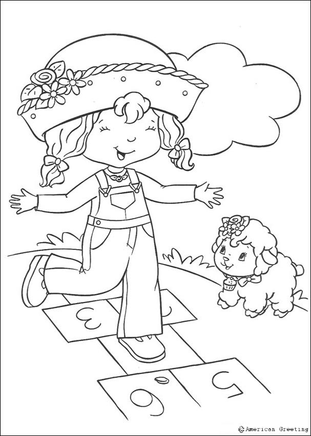607x850 Strawberry Shortcake Coloring Pages
