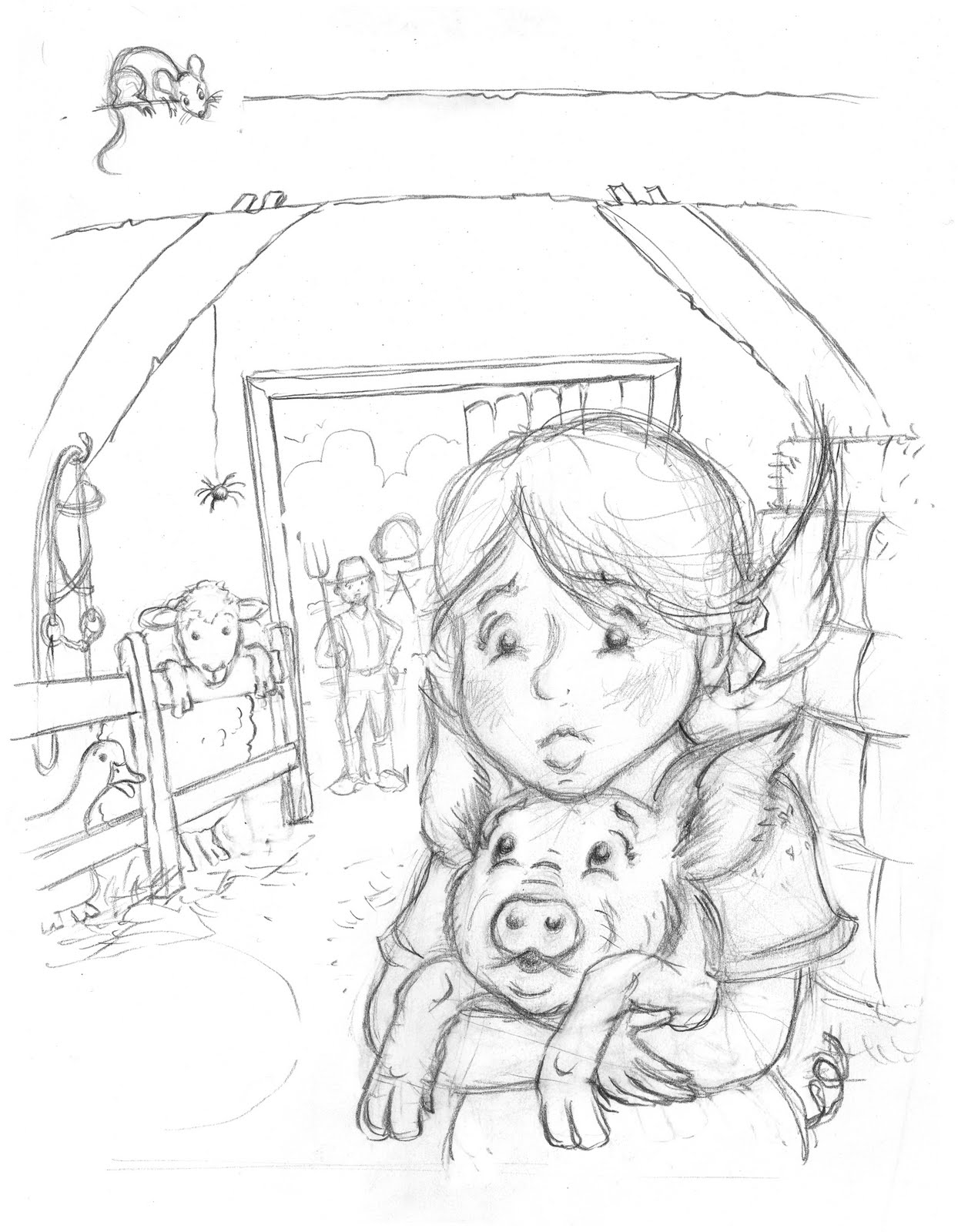 1244x1600 Charlottes Web Coloring Pages Pig Theme Charlottes Web Theme