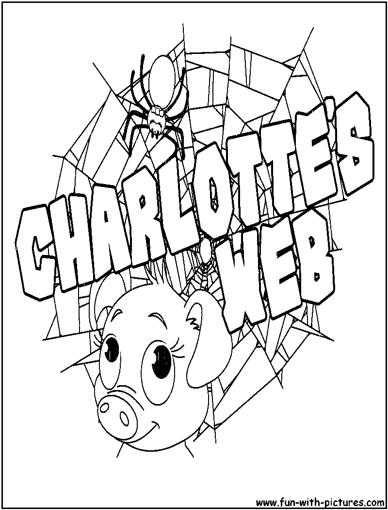 800x1050 Charlotte S Web Coloring Page Png Pages Exceptional