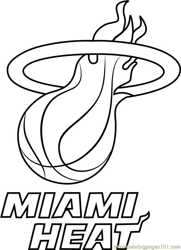 579x800 Miami Heat Coloring Page