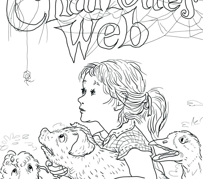 678x600 Charlottes Web Coloring Pages Full Page Coloring Pages Awesome Web