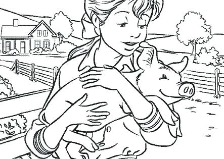 443x315 Charlottes Web Coloring Pages Spider With Blank Web Coloring Page