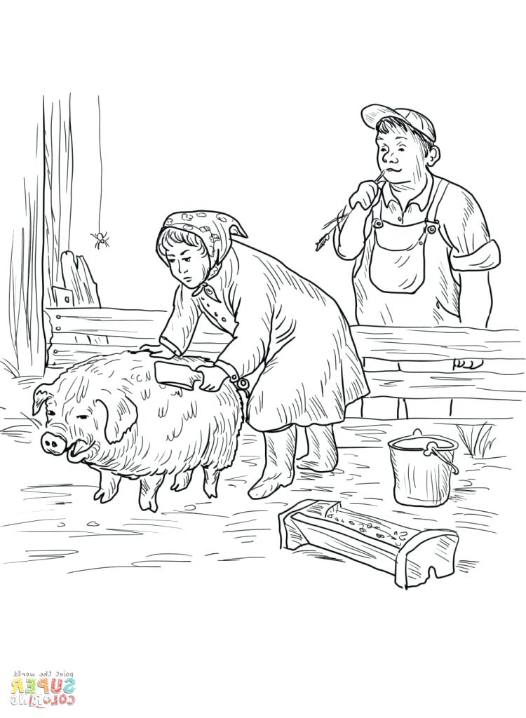 750x1024 Charlottes Web Coloring Pages Web Coloring Pages Charlottes Web