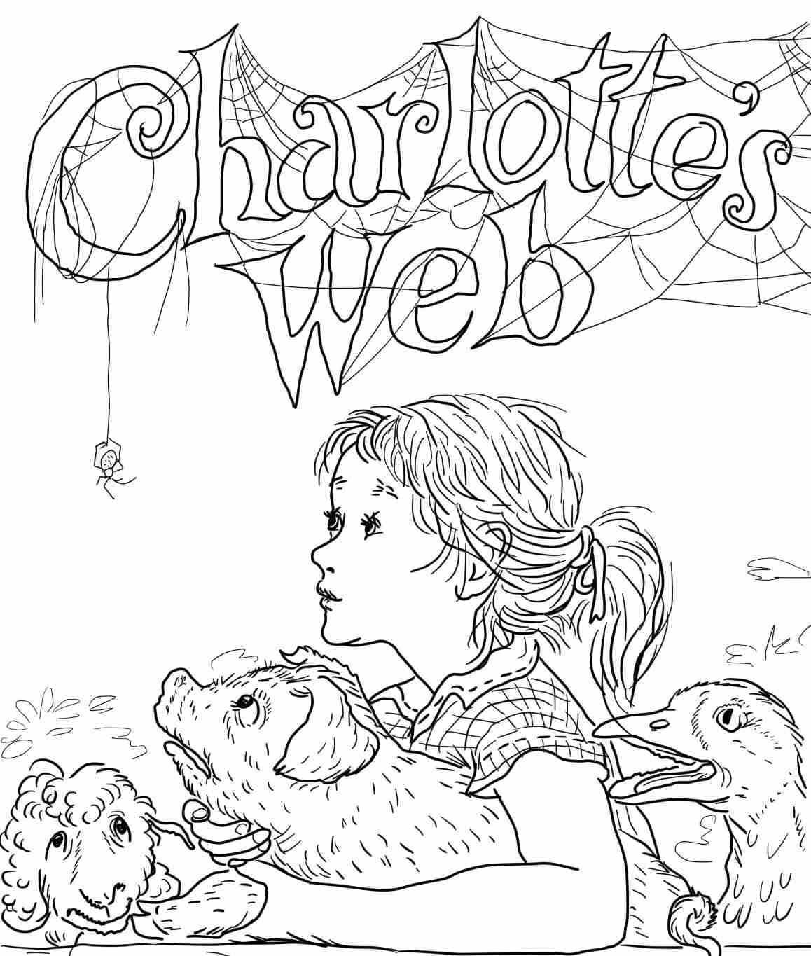 Charlotte's Web: Coloring and Activity Book and Crayons: Amazon.co ... | 1365x1158