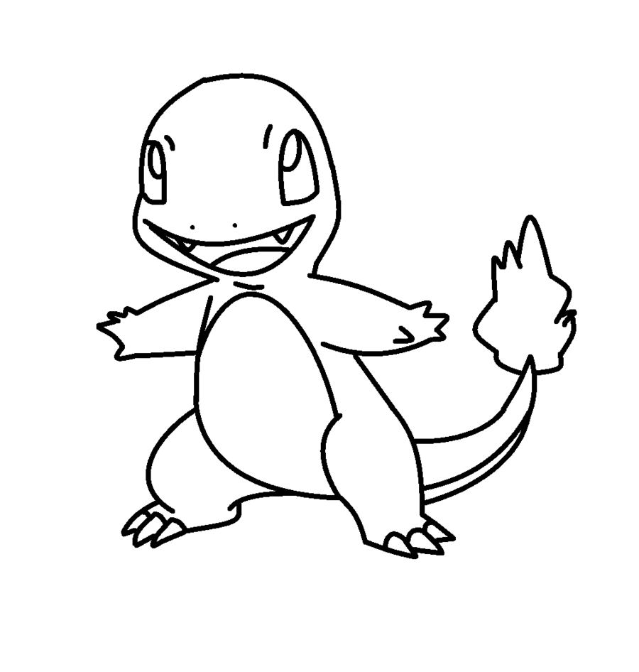 900x946 Charmander Coloring Pages To Download Within Page