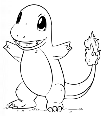 432x480 Charmander Pokemon Coloring Page From Generation I Pokemon