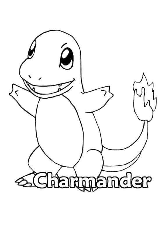 567x794 Pokemon Charmander Coloring Page With Pages Prepare