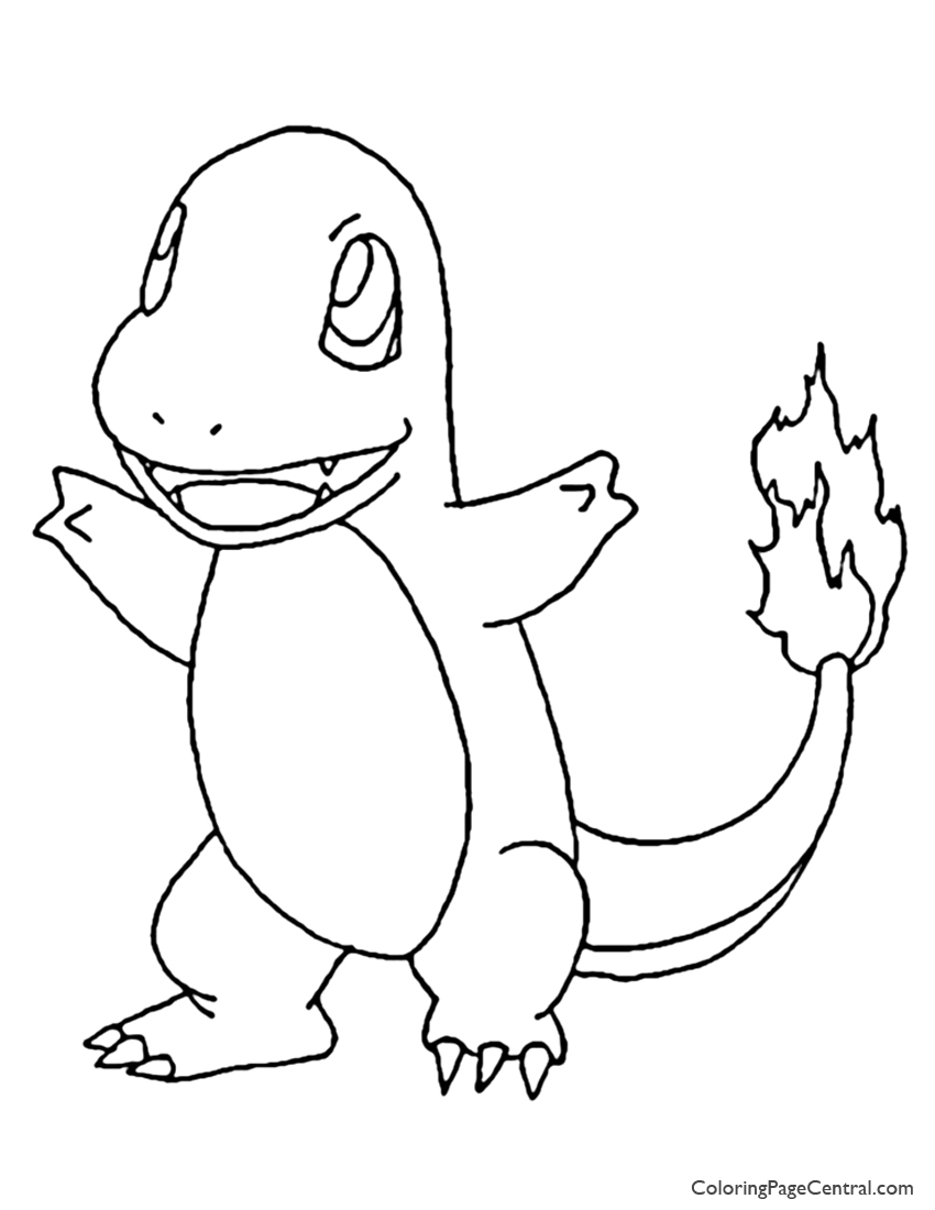 850x1100 Pokemon Charmander Coloring Page Coloring Page Central