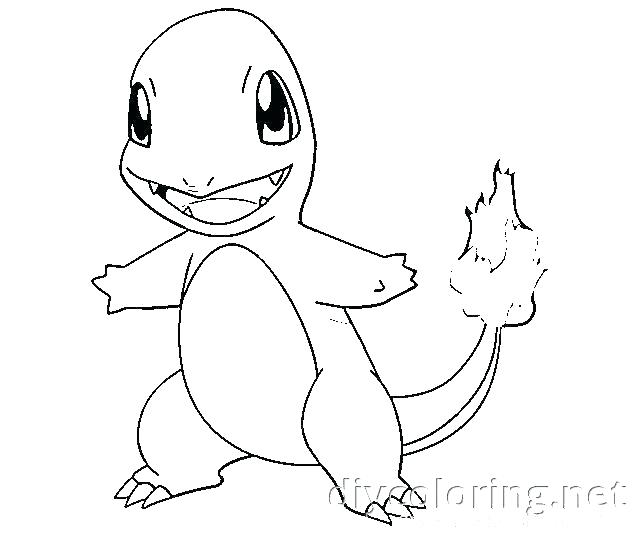 640x533 Charmander Coloring Pages
