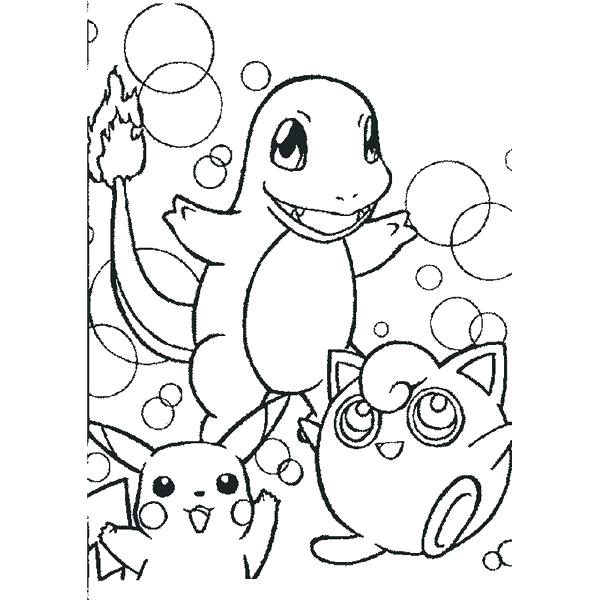 600x600 Charmander Coloring Pages