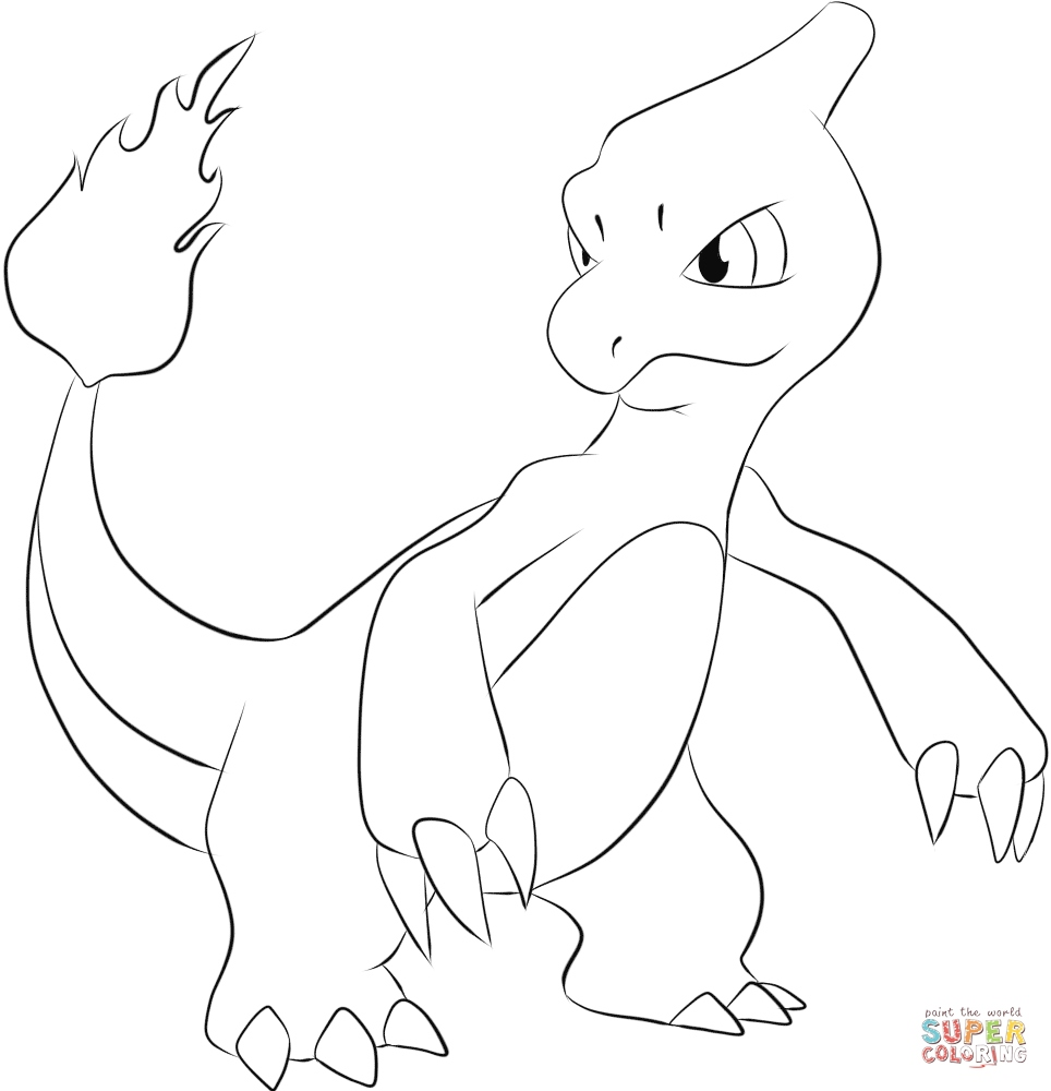 964x1000 Charmander Coloring Page Awesome Charmeleon Coloring Page Logo