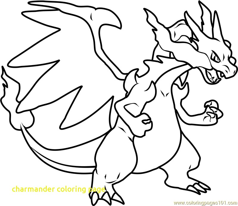 800x693 Charmander Coloring Page With Mega Charizard X Pokemon Coloring
