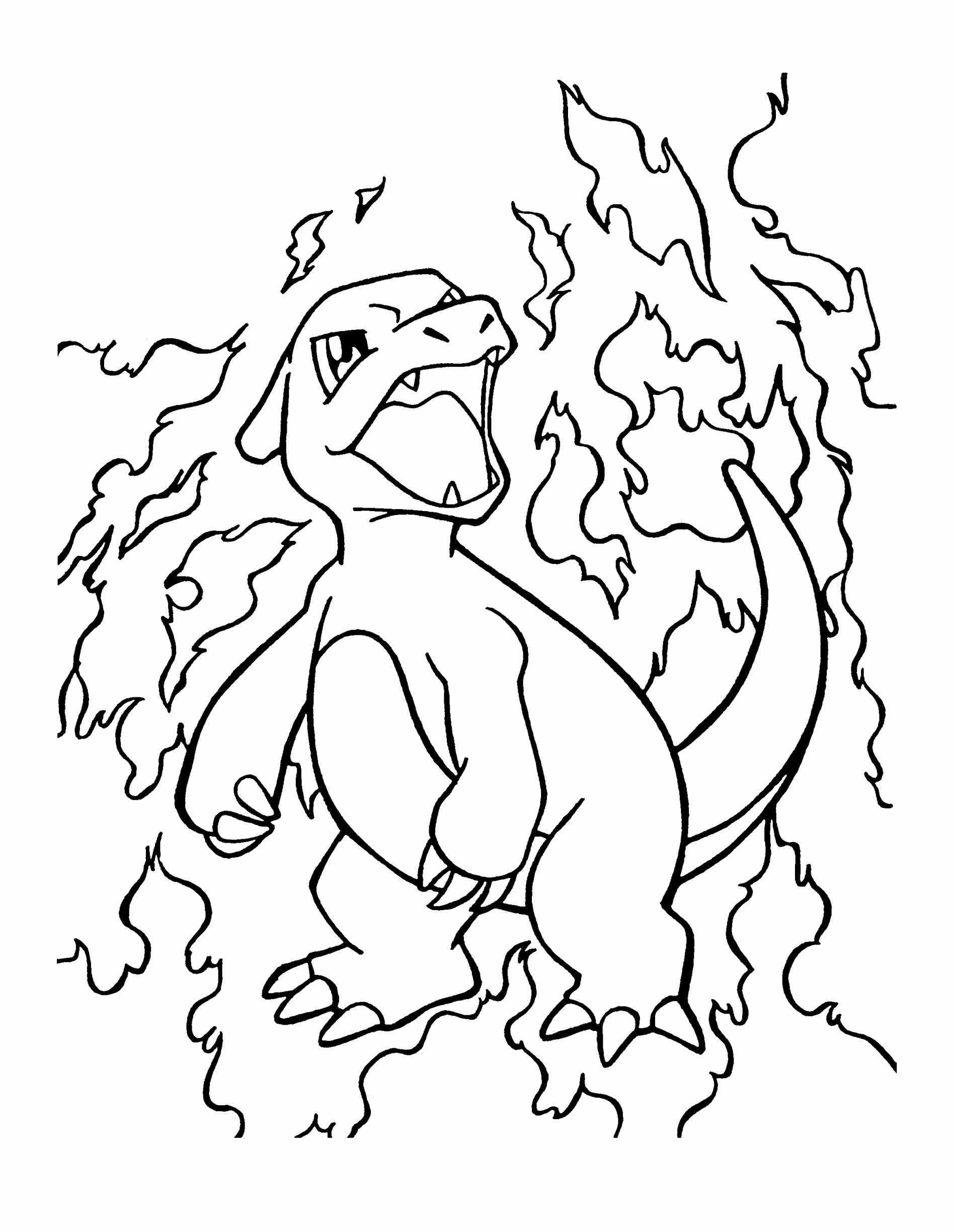 1896x2449 Pokemon Coloring Pages Charmander Free
