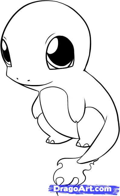 397x648 Chibi Charmander Coloring Pages