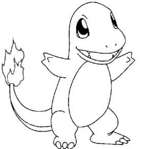 290x291 Charmander Charmander Pokemon Coloring Page Charmander Coloring