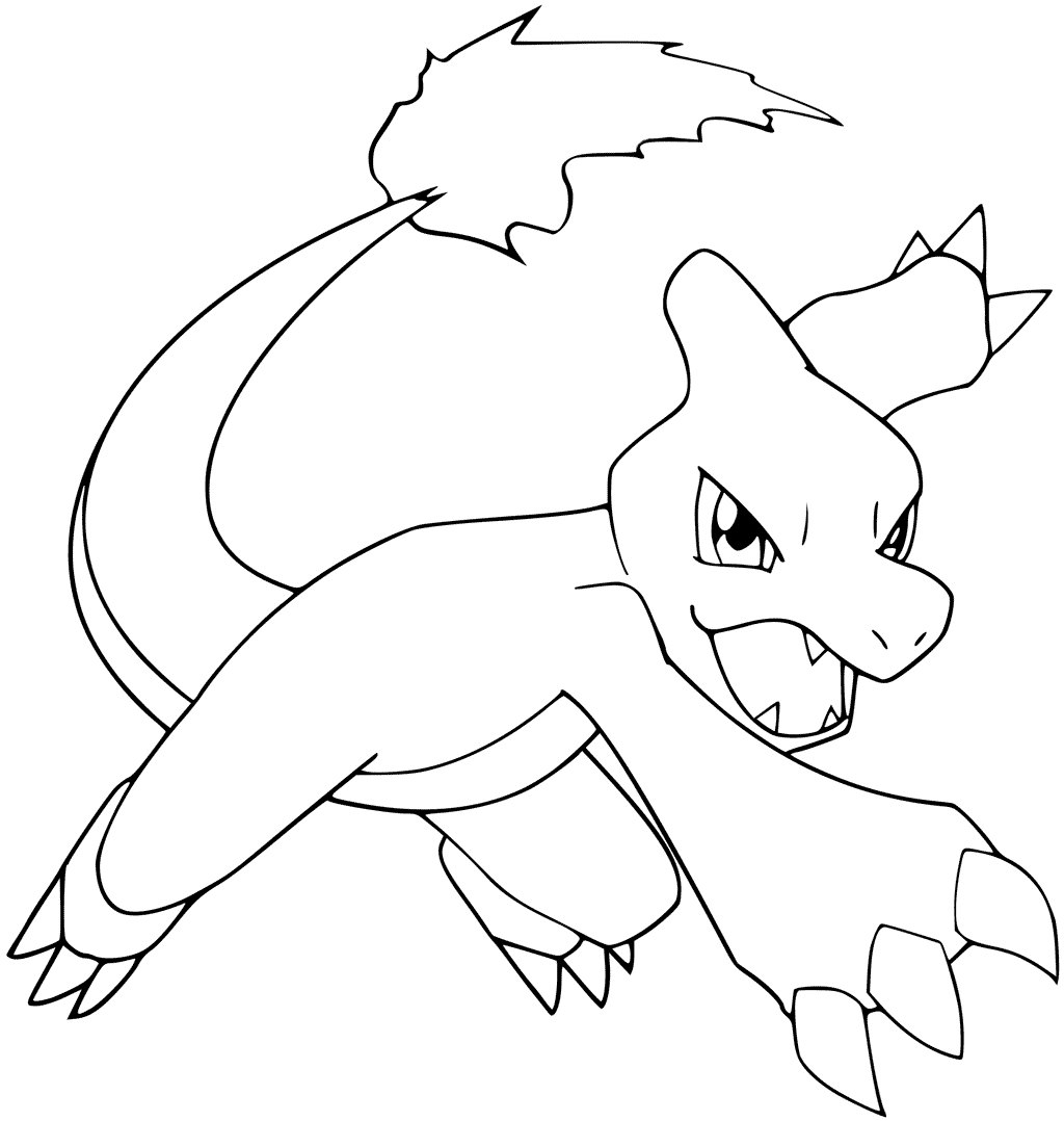 1024x1078 Charmeleon Angry Pokemon Coloring Pages