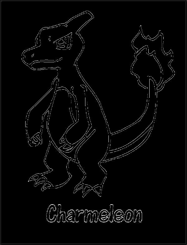 600x787 Charmeleon Pokemon Coloring Page