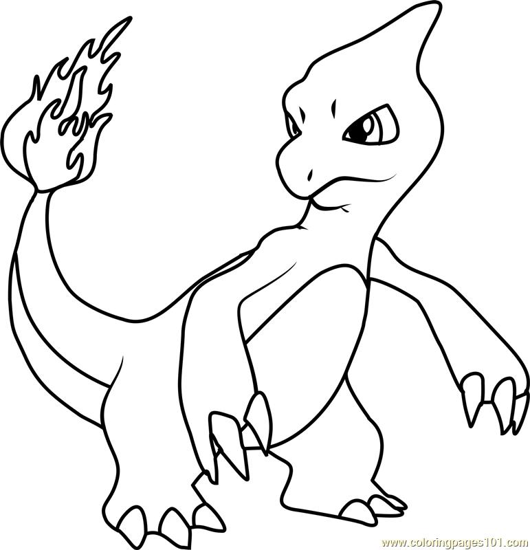 771x800 Charmeleon Pokemon Coloring Page