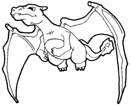 450x364 Pokemon Charizard Coloring Pages