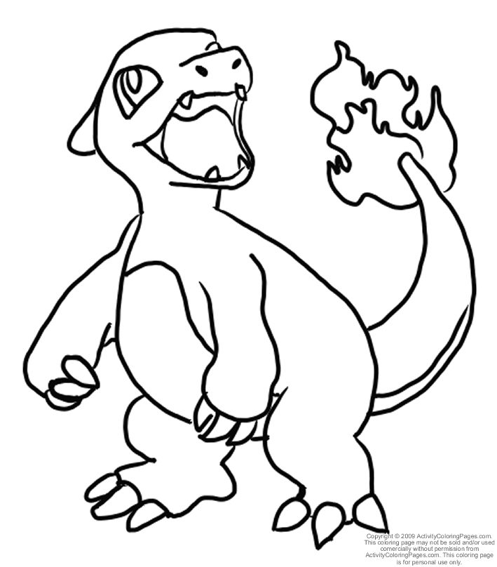 709x808 Pokemon Coloring Pages Charmeleon Pokemon Coloring Pages Dltk Kids