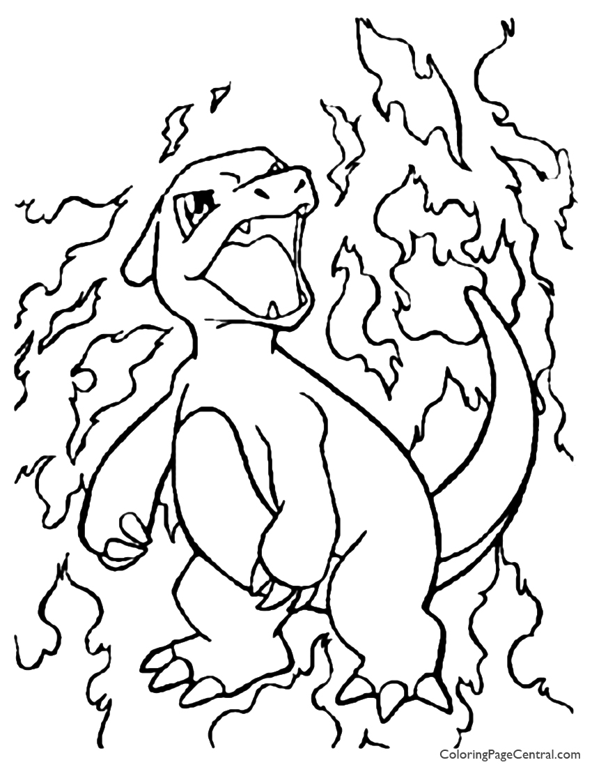 850x1100 Pokemon Charmeleon Coloring Page Coloring Page Central