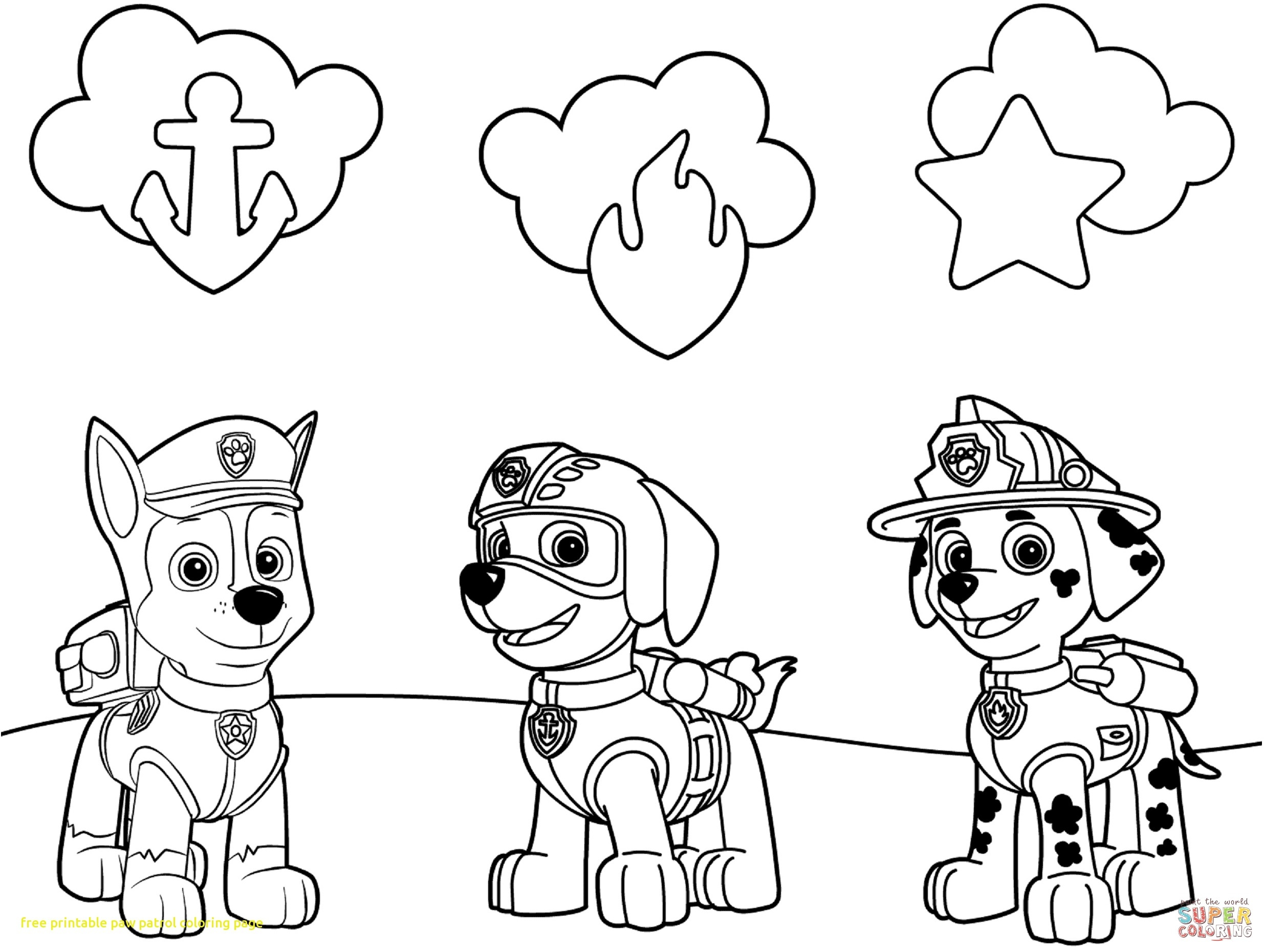 Chase Paw Patrol Coloring Page at GetDrawings | Free download