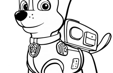 Chase Paw Patrol Coloring Page At Getdrawings Com Free For