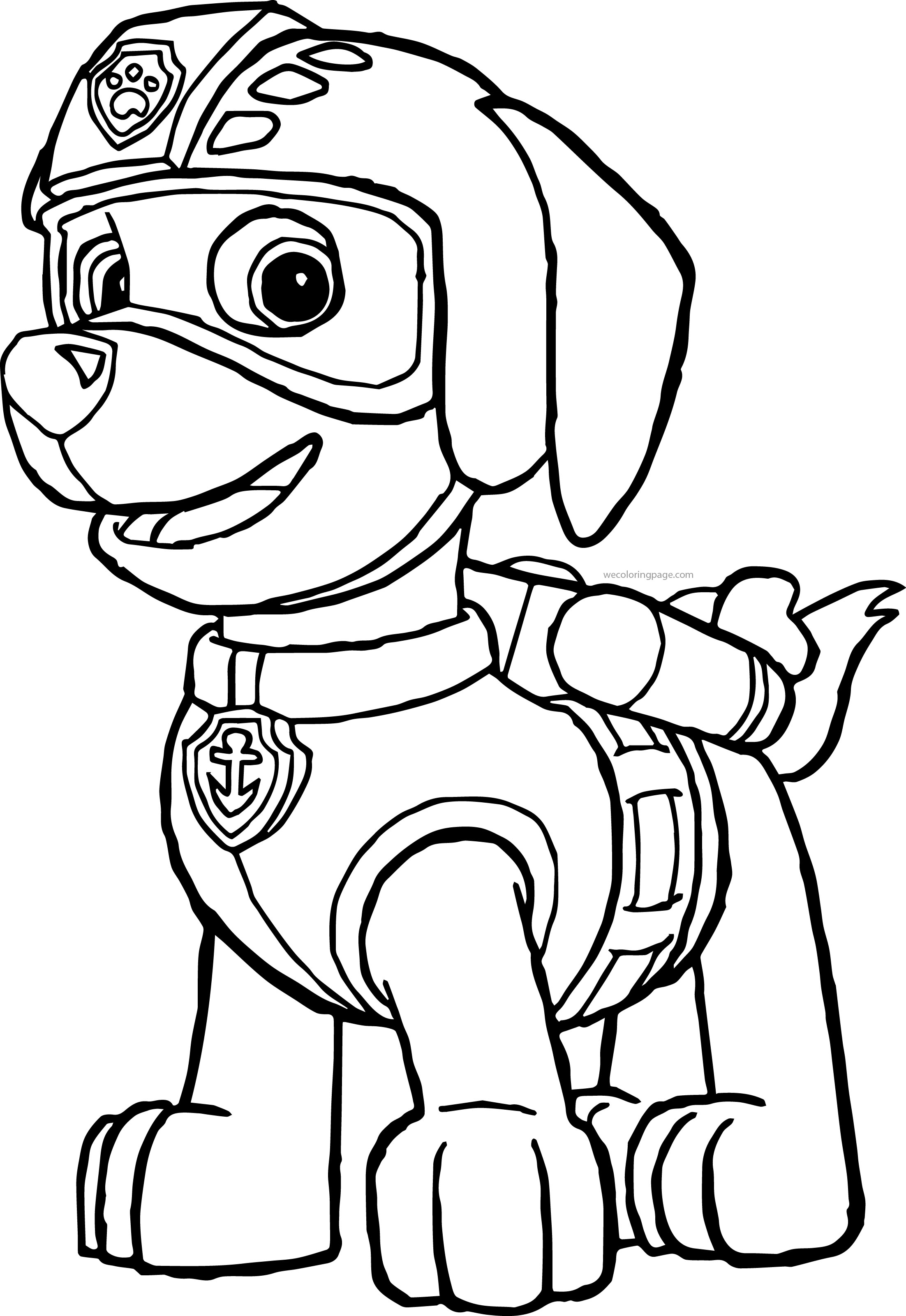 chase paw patrol coloring pages at getdrawings  free