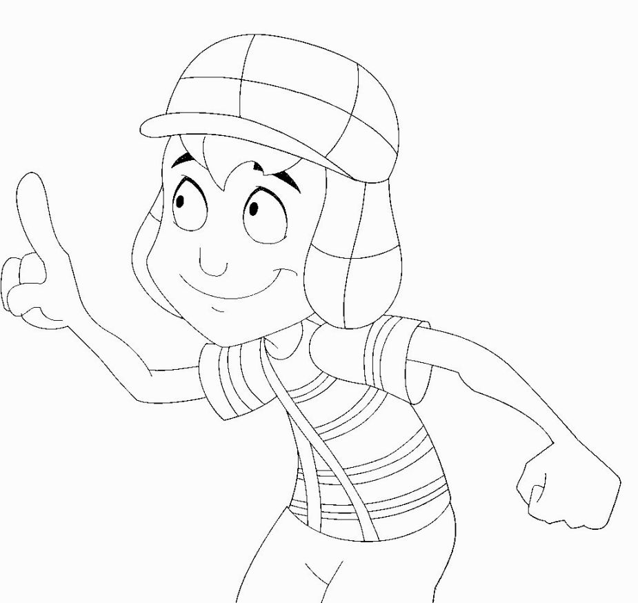 Chavo Del Ocho Coloring Pages