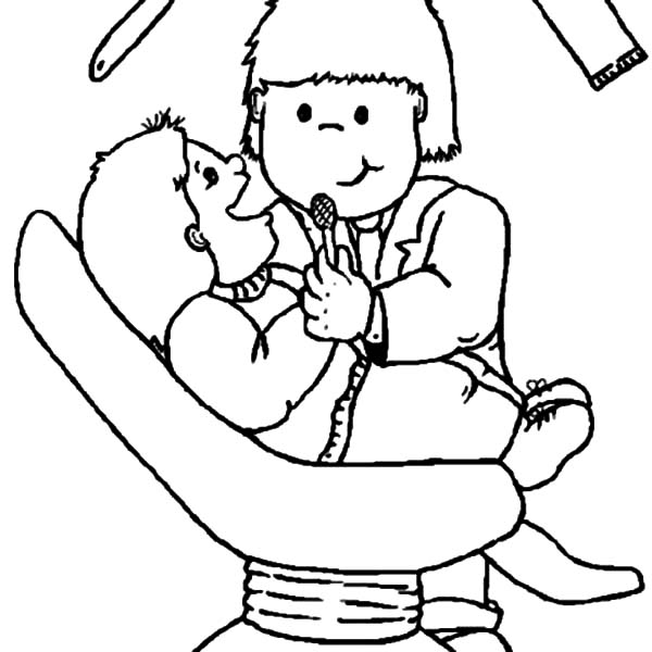 600x600 Dentist Check Meticulously Coloring Pages Coloring Sun
