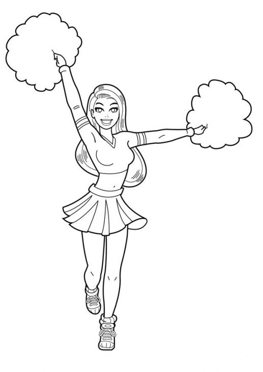 Cheer Coloring Pages To Print