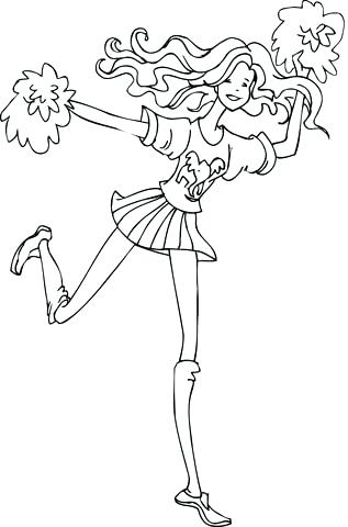 317x480 Cheerleading Coloring Pages Cheerleading Megaphone Coloring Pages