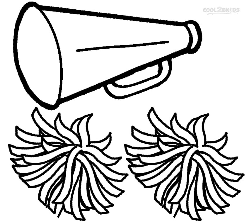 850x764 Cheerleading Megaphone Coloring Pages