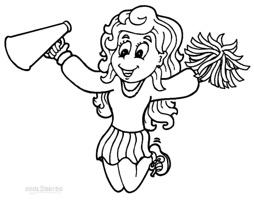 850x674 Printable Cheerleading Coloring Pages For Kids