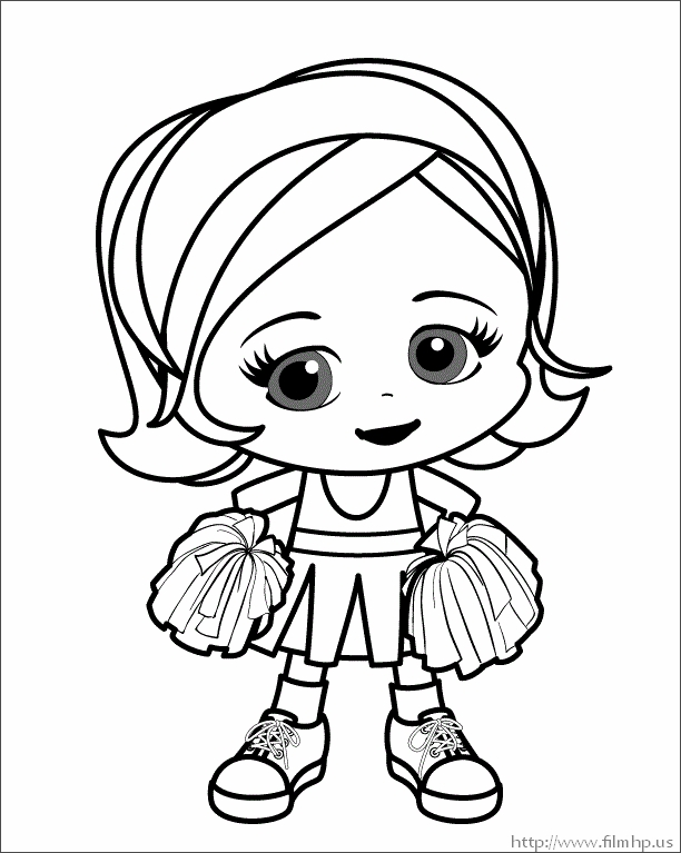 612x767 Cheerleader Coloring Pages Megaphones Free Coloring Page