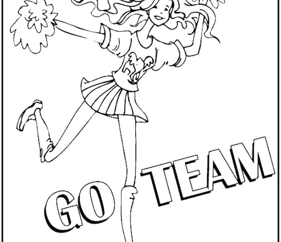930x800 Cheerleader Coloring Page Cheerleader Coloring Page Free Printable