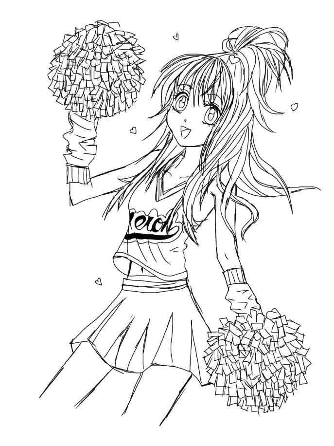 687x916 Cheerleading Coloring Pages Medium Size Of Coloring Coloring Pages